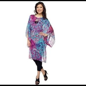 KDash Beautiful Sheer Kaftan M
